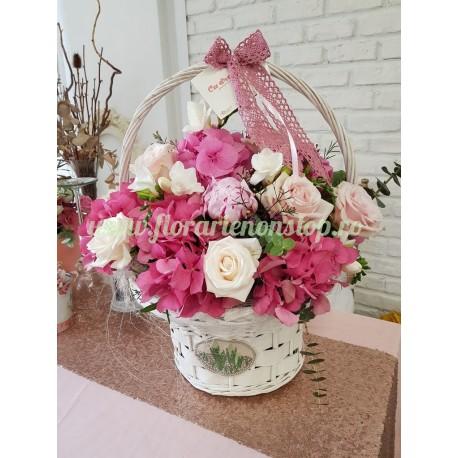 Cos cu flori