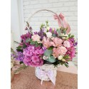 Cos cu flori clasic