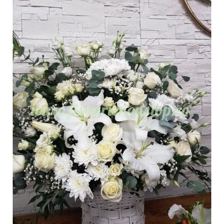 Cos cu flori PURE WHITE