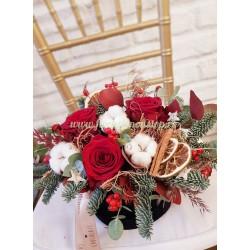 Aranjament floral pentru masa de Craciun