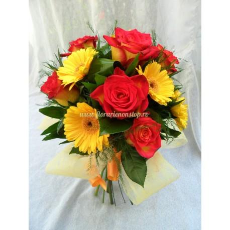 Buchet de gerbera flori ieftine