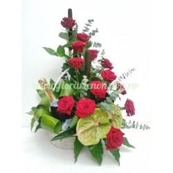 Cos - aranjament flori - business