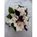 Buchet 10 cale negre 9 cupe orhidee cymbidium