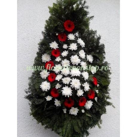 Coroana funerara flori naturale Cluj