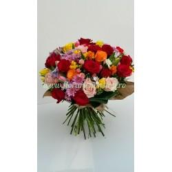 Comanda buchet flori mare multi color