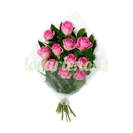 Buchet 13 trandafiri roz livrare nonstop Cluj
