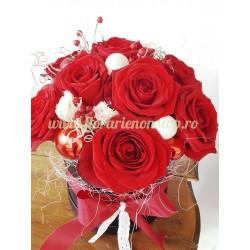 Aranjament floral Craciun comanda online