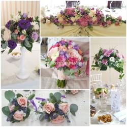 Pachet aranjamente florale nunta bronze