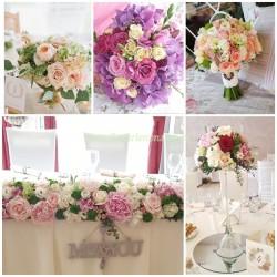Pachet aranjamente florale nunta silver