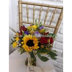 Buchet de mireasa floarea soarelui