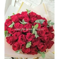Buchet trandafiri Valentine's