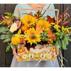 Ladita cu flori de toamna