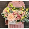 Ladita din lemn cu flori - Pastel Wood