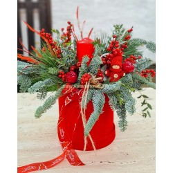 Aranjament floral masa Craciun florarie online
