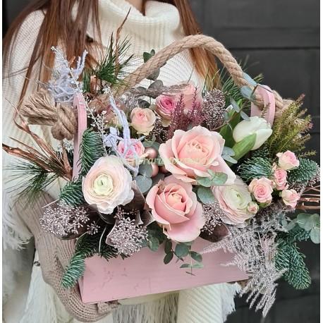 Ladita cu flori roz