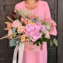 Cutie tip sertar cu trandafiri roz