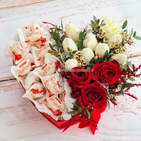 Inima din trandafiri si lalele