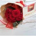 Oferta 7 trandafiri si o cutie de Merci