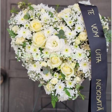 Coroana funerara Cluj inima