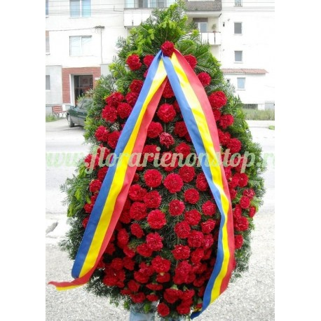 Coroana funerara garoafe