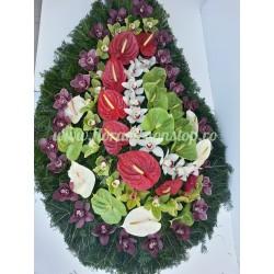 Coroana Anthurium flori naturale