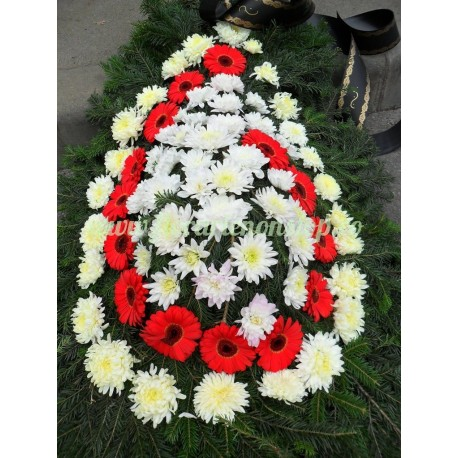 Coroana funerara gerbera crizanteme Cluj