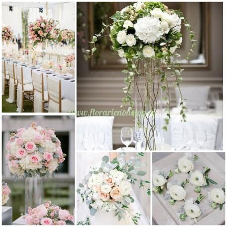 Pachet aranjamente florale nunta gold