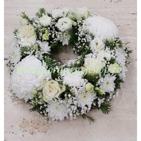 Coronita flori albe funerara